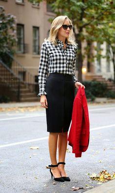 """Oii meninas... já faz um tempinho que comecei a ver a estampa xadrez com mais frequência no closet das blogueiras gringas!! Digo """"com mais..."""