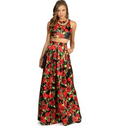 Amber- Black Two-Piece Homecoming Dress at WindsorStore