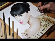 Drawing Katy Perry - Colored Pencil Time-lapse Sketch by Heather Rooney on YouTube