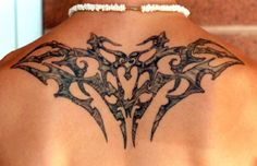 446d040cadbe3 Small Tribal Sun Tattoo On Upper Back Men - Inofashionstyle.com Small  Tribal Tattoos,