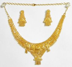 Gold Plated Bridal Necklace Set Indian bridal jewelry Indian