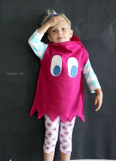 Pac-Man Ghost Costume DIY by @mesewcrazy
