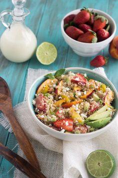 Fruity Quinoa Salad {GF, Vegetarian + Low Fat}