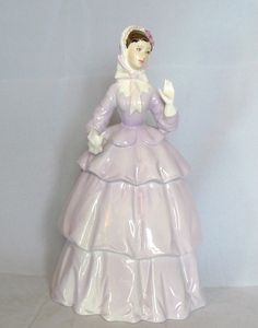 Superb ROYAL WORCESTER Bone China - Lady Figurine - SINCERITY - Lilac Gown - Vgc #Figurines