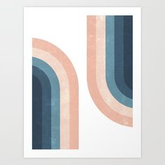 Buy 70s Rainbow Art Print by cafelab. Worldwide shipping available at Society6.com. Just one of millions of high quality products available. Geometry Art, Rainbow Art, Acrylic Painting Canvas, Canvas Paintings, Textures Patterns, New Art, Print Design, Design Shop, Gallery Wall