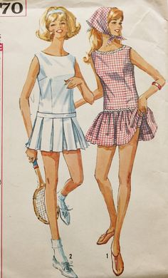 Vintage 1960s Simplicity 5970  Tennis by BluetreeSewingStudio, $18.00