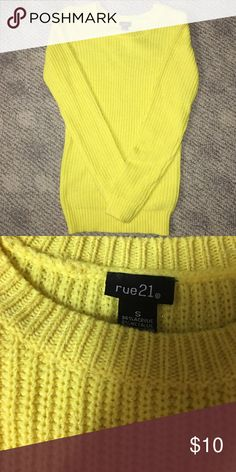 Rue 21 sweater Yellow Rue 21 sweater Rue 21 Sweaters Crew & Scoop Necks