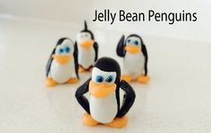 Make your own Penguins of Madagascar using Jelly Beans & orange Starburst & some homemade marshmallow fondant. These awesome Candy Creatures are perfect for ...