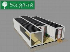 Self-sufficient home made using 30 shipping containers | Designbuzz : Design ideas and concepts