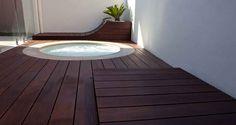 Bamboo decking with a dark stain. Bamboo Decking, Dark Stains, Deck Design, Outdoor Furniture, Outdoor Decor, Australia, House, Home Decor, Dark Spots