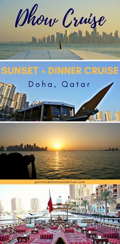 Dhow Cruise | Doha, Qatar | Sunset and dinner Dhow Cruise | Middle East travel | Visit Qatar | Cruise travel | Dhow boat | Arabian Gulf | Qatar Places to visit | #Qatar #MiddleEast