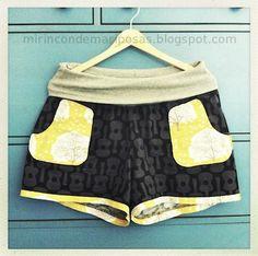 mi rincón de mariposas: Unos shorts para mí (con patrón talla L)