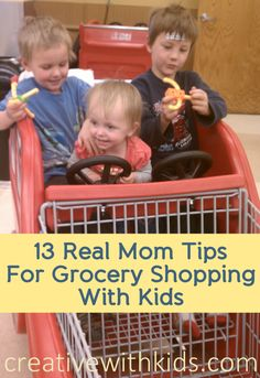 13 Ways to Make Grocery Shopping with Kids Less Torturous. Or maybe even fun.