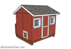 Large Chicken Coop Plans | MyOutdoorPlans | Free Woodworking Plans and Projects, DIY Shed, Wooden Playhouse, Pergola, Bbq