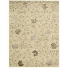@Overstock - A watercolor-inspired floral print is already a work of art but becomes inspirational when executed in pearlescent hues of beige, purple, gold and green. With its soft, extra dense pile, and silky yarns, this gorgeous rug mesmerizes at every turn.http://www.overstock.com/Home-Garden/Hand-tufted-Oasis-Scattered-Floral-Natural-Rug-76-x-96/7232860/product.html?CID=214117 $779.00