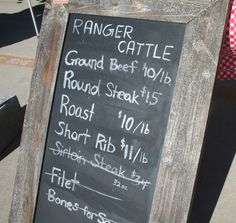 Ranger Cattle at Lago Vista Farmers Market