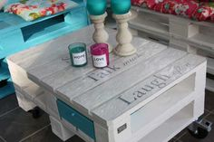 Meble z palet - Stół z palet