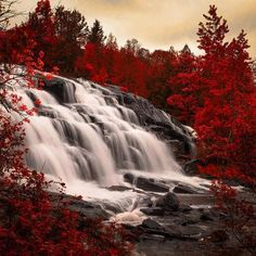 Bond falls is a waterfall on the middle branch of the Ontonagon River, a few miles east of Paulding in Haight Township in southern Ontonagon County, Michigan.