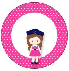 Toppers para Cupcakes e Docinhos Menina Marinheira