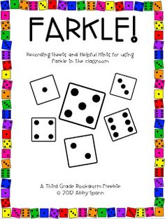 Classroom Freebies Too: FARKLE in the Classroom! Promotes place value, addition, mental math and probability skills.Classroom Freebies Too: FARKLE in the Classroom! Promotes place value, addition, mental math and probability skills. Curriculum, Homeschool Math, Homeschooling, Classroom Freebies, Math Classroom, Classroom Ideas, Teachers Pay Teachers Freebies, Teacher Freebies, Classroom Procedures