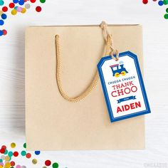 Party favor tags are a customer favorite. They're a must-have for every party! You can... Party Favor Tags, Party Favors, Train Party, Tag Design, Address Labels, Diy Party, Party Printables, Make Your Own, Prints