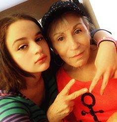 When your granddaughter is your bestie for the restie. #BestFriendGoals @JoeyKingActress
