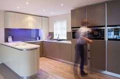 Two-tone Matt Slab Handleless Kitchen