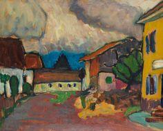 Home Place in Murnau 1909 By GABRIELE MÜNTER