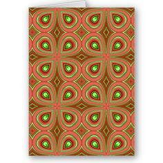 Pattern 01 card #gifts #psychedelic #abstract