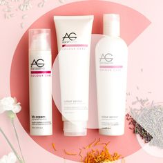 AG's CARE Complex keeps your color bright and healthy. Formulated with sunflower seed extract, lavender, carnation, cherry bark and red clover. #aghairbbcream