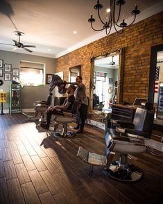 Barber shop interior ideas the barbershop where good fellowship and haircuts happen vintage decor bathroom styles Barber Shop Interior, Barber Shop Decor, Barber Shop Chairs, Barber Chair, Barbershop Design, Barbershop Ideas, Best Barber, Beauty Salon Interior, Salon Design