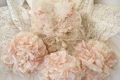 BEAUTIFUL fabric flowers!