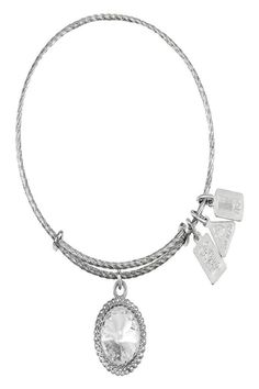 Motivation  Courage  Energy Those born in the month of April are assertive and in constant motion. They tend to be strong leaders and brilliant problem-solvers and are attracted to excitement and competition. The Diamond Crystal provides strength and clarity throughout this journey. Wearing the April Charm Bangle enables you to identify with your birth month and connect with your unique innate energies. April Birthstone Bangle by Wind & Fire . Accessories - Jewelry - Fine Jewelry New York…