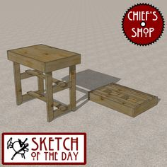 Sketch of the Day: Knock-Down Work Table