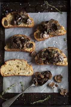 Tartines aux champignons poêlés