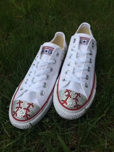 Low Top Baseball Blinged Converse Shoes. Custom Made Converse. Toddler Shoes…