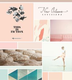 Soft peach and blue moodboard Illustration Inspiration, Graphic Design Inspiration, Color Inspiration, Design Ideas, Web Design, Layout Design, Brand Design, Soft Colors, Colours