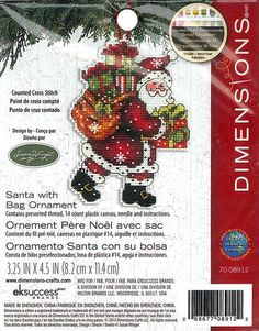 Dimensions  Santa with Bag Ornament 7008912 by DebiCreations, $6.99