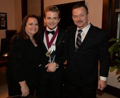Hunter and his parents