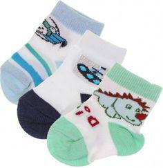 Kit com 3 meias para Bebe - Menino - Ratimbum - 6821 - 16 | Cegonha Encantada