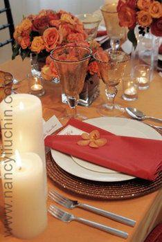 Wedding, Flowers, Reception, Centerpiece, Orange, Nancy liu chin