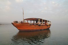 A view of the boat on the Sea of Galilee!