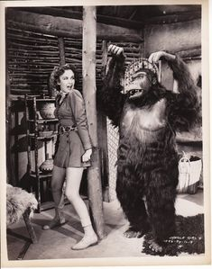 Jungle Girl, 15 Chapter Republic Serial, 1941 starring Frances Gifford as Nyoka, very loosely based on the Edgar Rice Burroughs novel.