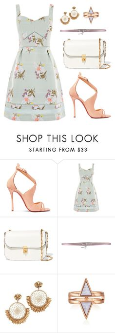 """""""Untitled #1841"""" by shell26 ❤ liked on Polyvore featuring Christian Louboutin, Oasis, Valentino, Dolce&Gabbana and Deepa Gurnani"""