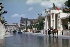 Via dei Trionfi - oggi Via di San Gregorio - in occasione della visita di Adolf Hitler a Roma nel 1938
