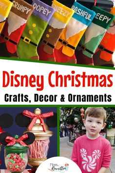 This holiday round-up of Disney Christmas crafts, decor and holiday ornaments will help make your season a little more magical! These ideas including stockings, seasonal scents, outdoor decorations, holiday crafts and ornaments include DIY and more. Disney Frozen Crafts, Disney Christmas Crafts, Disney Princess Crafts, Disney Christmas Stockings, Disney Crafts For Kids, Disney Christmas Decorations, Holiday Crafts, Holiday Ornaments, Holiday Ideas