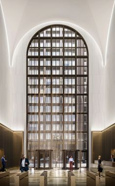 Gensler redesigns lobby for postmodern AT&T Building Lobby Interior, Interior Work, Office Interior Design, Modern Interior, Listed Building, Madison Avenue, In Law Suite, Postmodernism, Large Windows