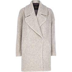 Light grey boucle oversized coat 65,00 €