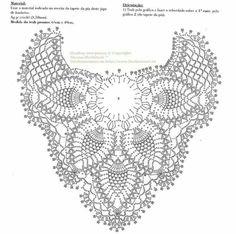 pineapple shawl fully diagrammed- free crochet pattern