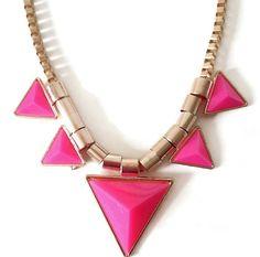 Collier SYLLA rose #collier #bijou #accessoire #tendances